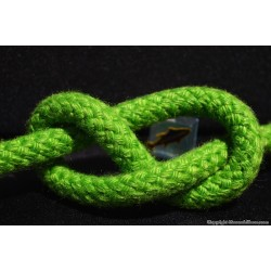 SCOTTA ,doppia treccia,in fiocco verde ,mm 10